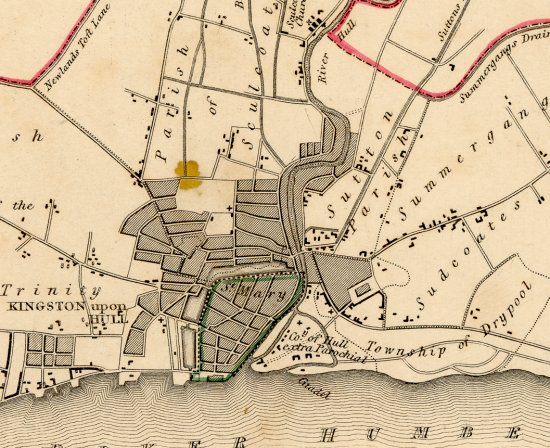 Map of Kingston upon Hull 1835
